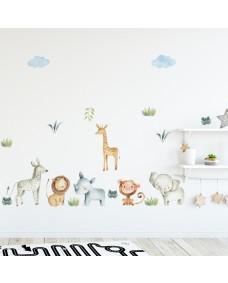 Wallstickers  -Akvarell safari