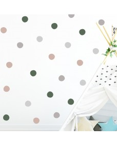 Wallstickers - Prikker i vakre farger