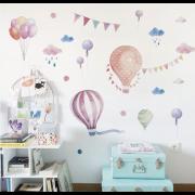 Wallstickers - Akvarellballonger
